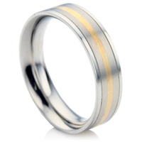 Steel & Gold Wedding Ring