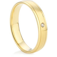 Yellow Gold Diamond Set Wedding Ring