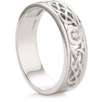 Brilliant Cut Diamond Set Celtic Design Ring