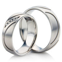 White Gold Wedding Rings with a Decorative Design