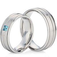 White Gold 6.5mm Decorative Wedding Ring