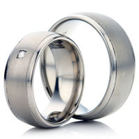Titanium Deccorative Wedding Ring Set