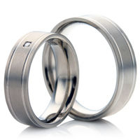 Wedding Ring Set in Titanium