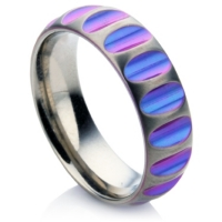 Pitted Zirconium wedding ring