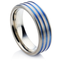 Linear Zirconium wedding ring