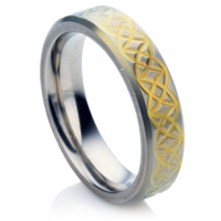 Celtic Zirconium Wedding Ring