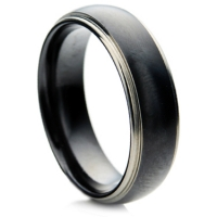 Black Zirconium Ring with a Matt Finish