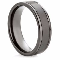 Decorative Black Zirconium Ring