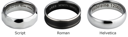 laser engraving - Wedding Ring Inscriptions