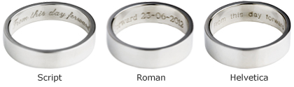 engraving your wedding ring with a personal message